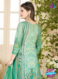 Rakhi 5015 B Green Printed Cotton Suit