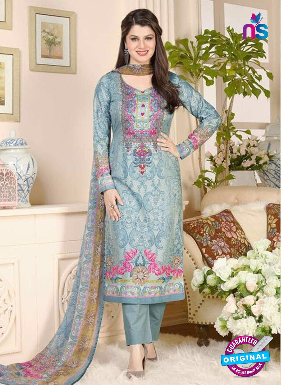 Rakhi 5016 A Grey and Multicolor Printed Cotton Suit