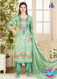 Rakhi 5016 B Green and Multicolor Printed Cotton Suit