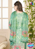 Rakhi 5016 B Green Printed Cotton Suit
