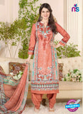 Rakhi 5019 A Peach and Multicolor Printed Cotton Suit