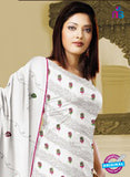 NS10760  White Karachi Cotton Designer suit