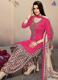 Kalakirti 501B Beige & Pink Color Glace Cotton Designer Suit
