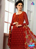 SC 13067 Red Georgette Embroidery Party Wear Straight Suit Online