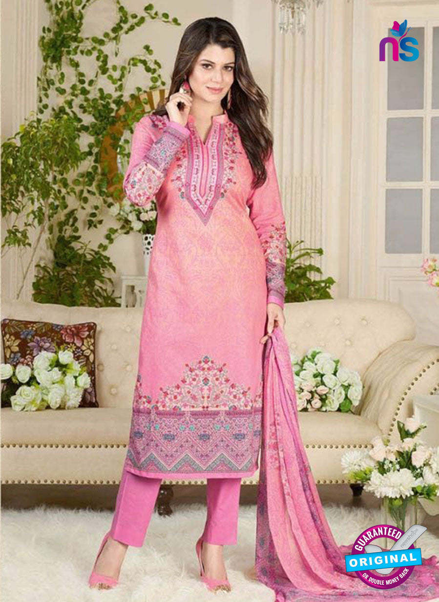 Rakhi 5020 A Pink and Multicolor Printed Cotton Suit