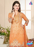 Rakhi 5020 B Orange Printed Cotton Suit