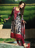 Glossy 502B  Red Color Glace Cotton Designer Suit