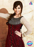 Omtex 502 Maroon Color Embroidered Georgette Suit
