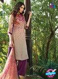 Ganga 5030 Purple and Beige Cotton Party Wear Suit