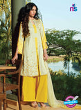 Ganga 5032 Yellow and Beige Cotton Party Wear Suit