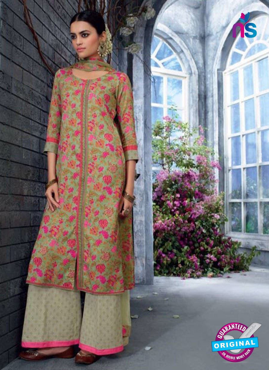 Ganga 5037 Grey and Pink Cotton Suit