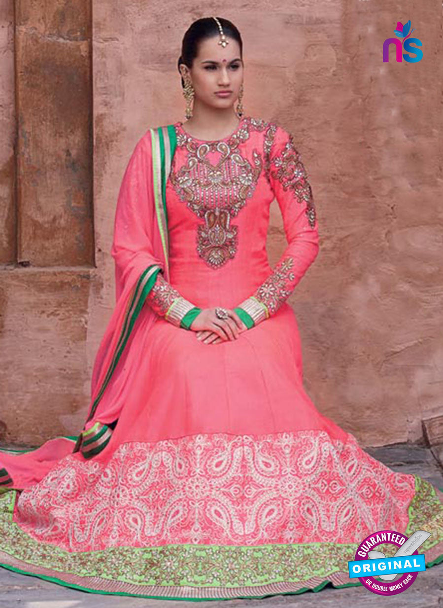 NS10643 Carrot Red Hamida Anarkali Suit