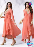 LT 503 Peach Exclusive Party Wear Georgette Tunic