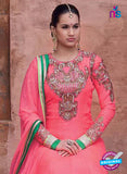 NS10643 Peach Hamida Anarkali Suit