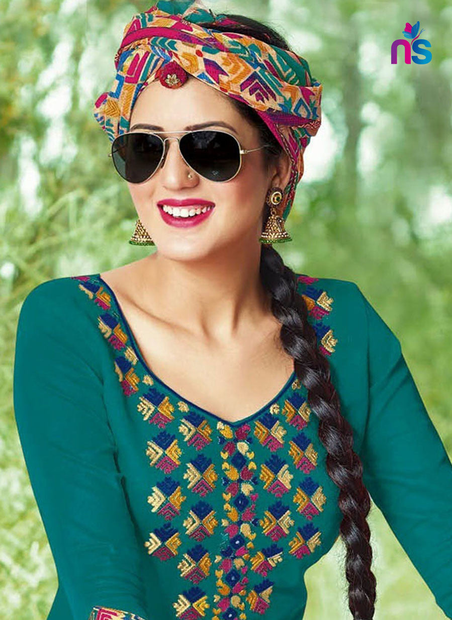 Kalakirti503 Green Color Glace Cotton Designer Suit