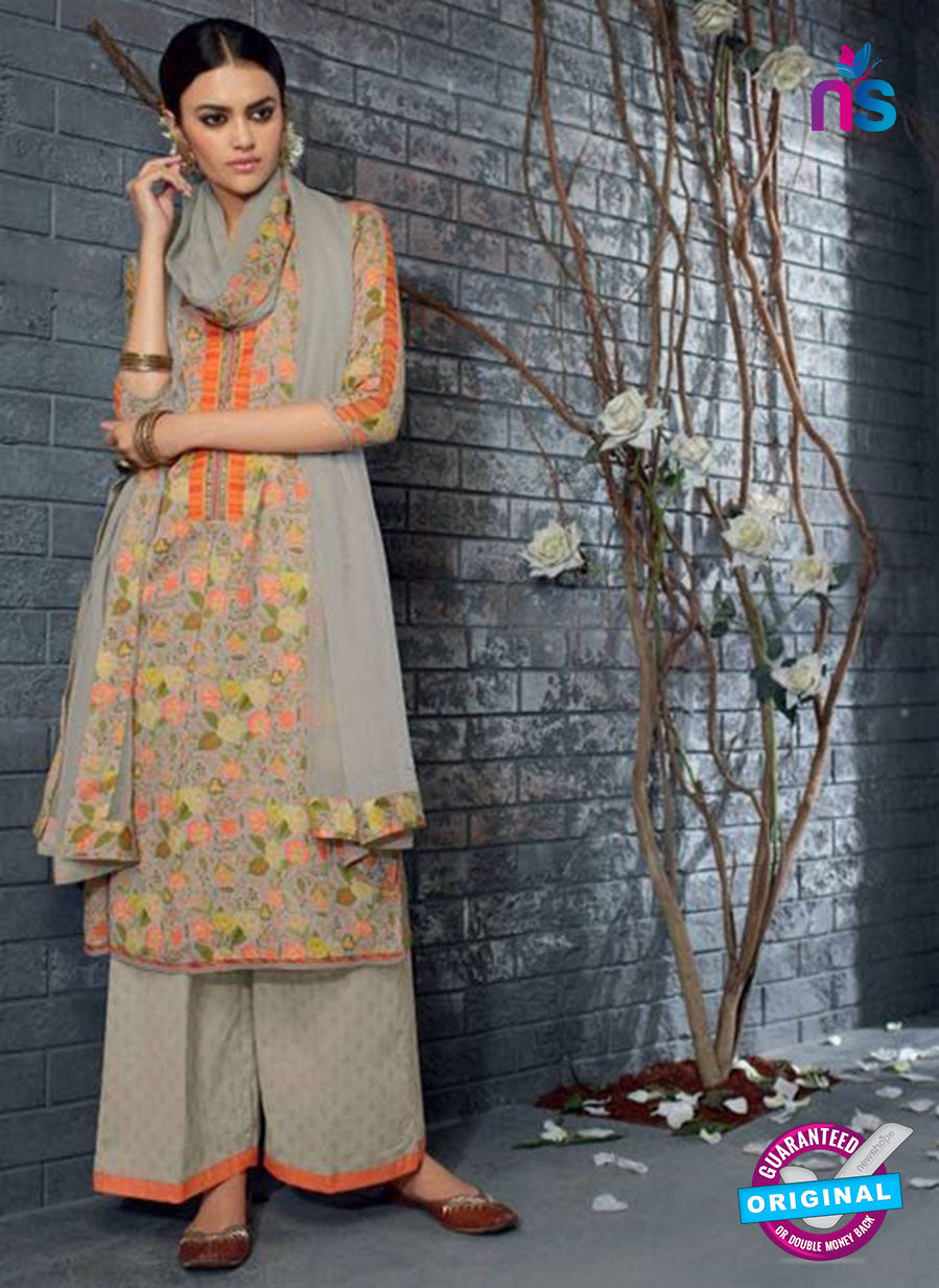 Ganga 5040Green and Orange Cotton Suit