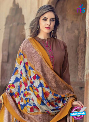 AZ 5158 Brown Pashmina Formal Kurti