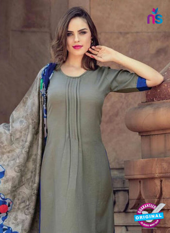 AZ 5162 Grey Pashmina Formal Kurti