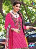 Kalakirti 504 C Pink and Multicolor Embroidered Cotton Patiyala Suit