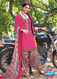 504 C Pink and Multicolor Embroidered Cotton Patiyala Suit