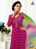 SC 13063 Magenta Georgette Embroidery Party Wear Straight Suit Online