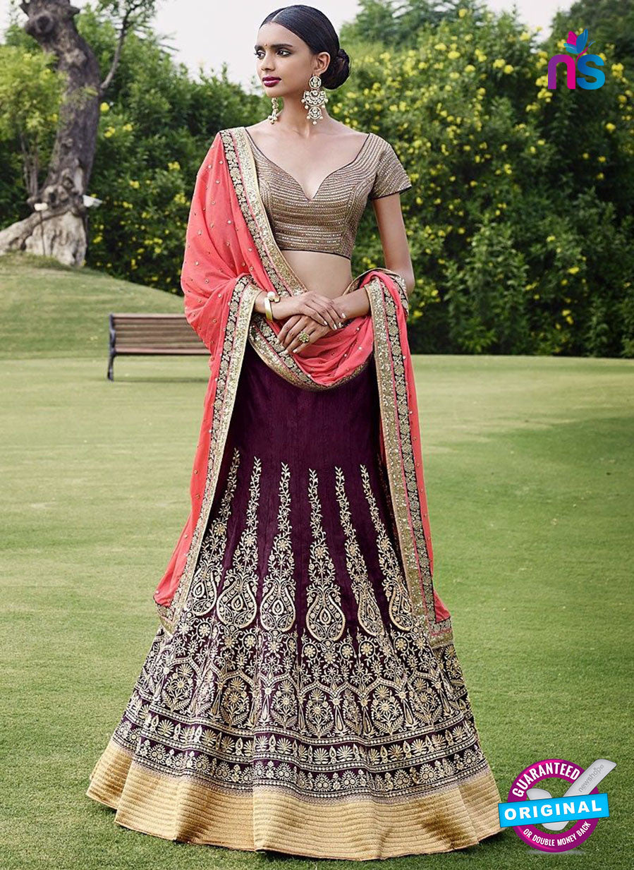 Buy Nakkashi 5052 Purple Color BhagalPuri Designer Lehnga Choli Online