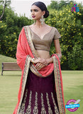Nakkashi 5052 Purple Color BhagalPuri Designer Lehnga Choli
