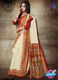 SC 12624 Red, Yellow and Beige Bhagalpuri Silk Designer Saree