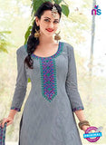 Kalakirti 506B Gray & Green Color Fine Cotton Designer Suit