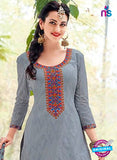 Kalakirti 506C Gray & Maroon Color Fine Cotton Designer Suit