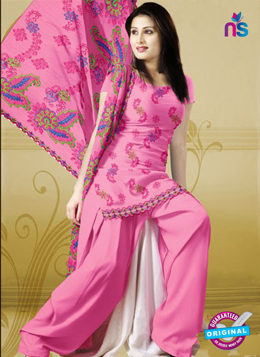 NS10764  Pink Karachi Cotton Designer suit