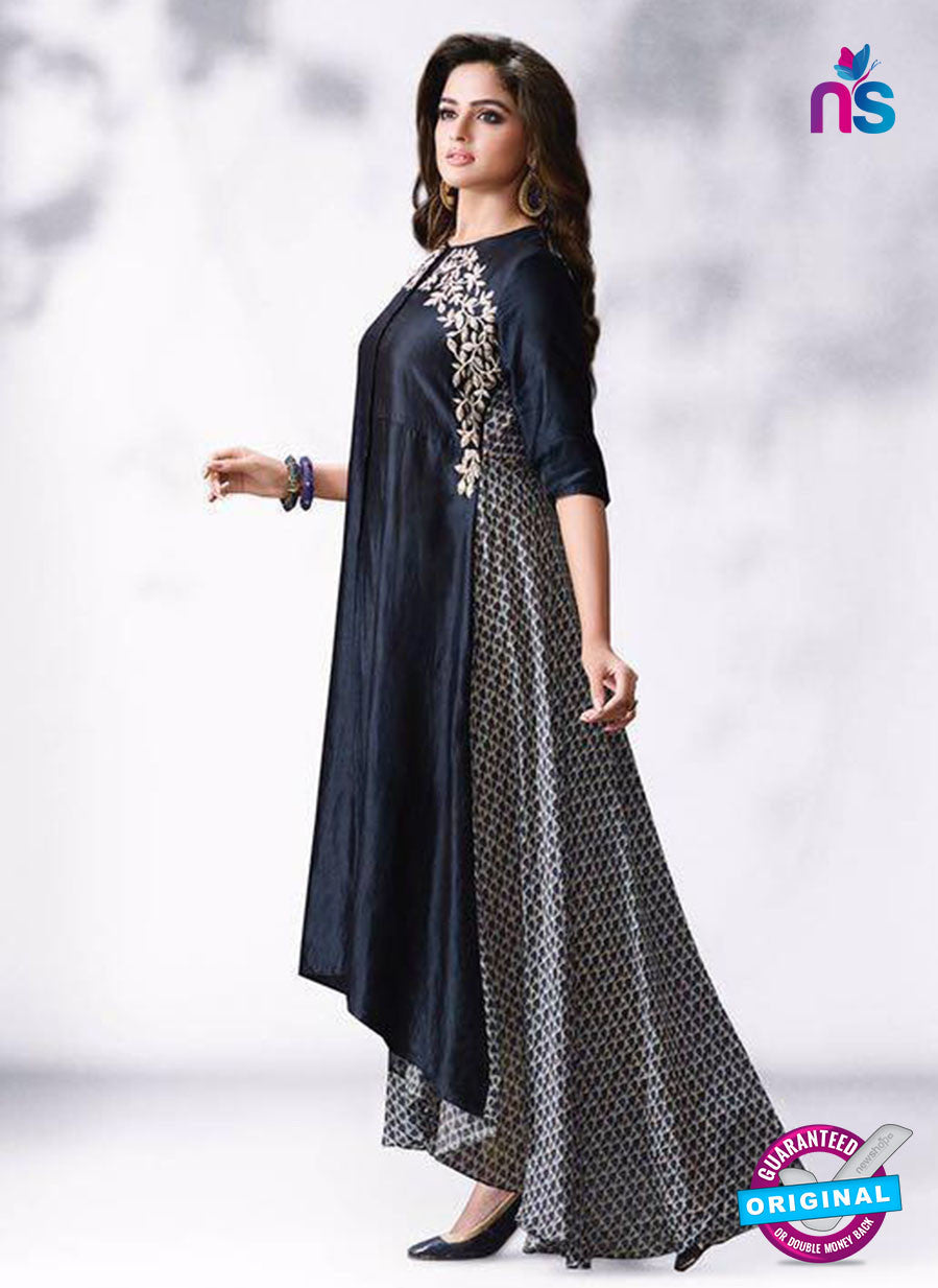 LT 507 Black Exclusive Party Wear Georgette Tunic