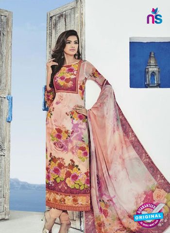 Bela 507 Pink Georgette Party Wear Suit