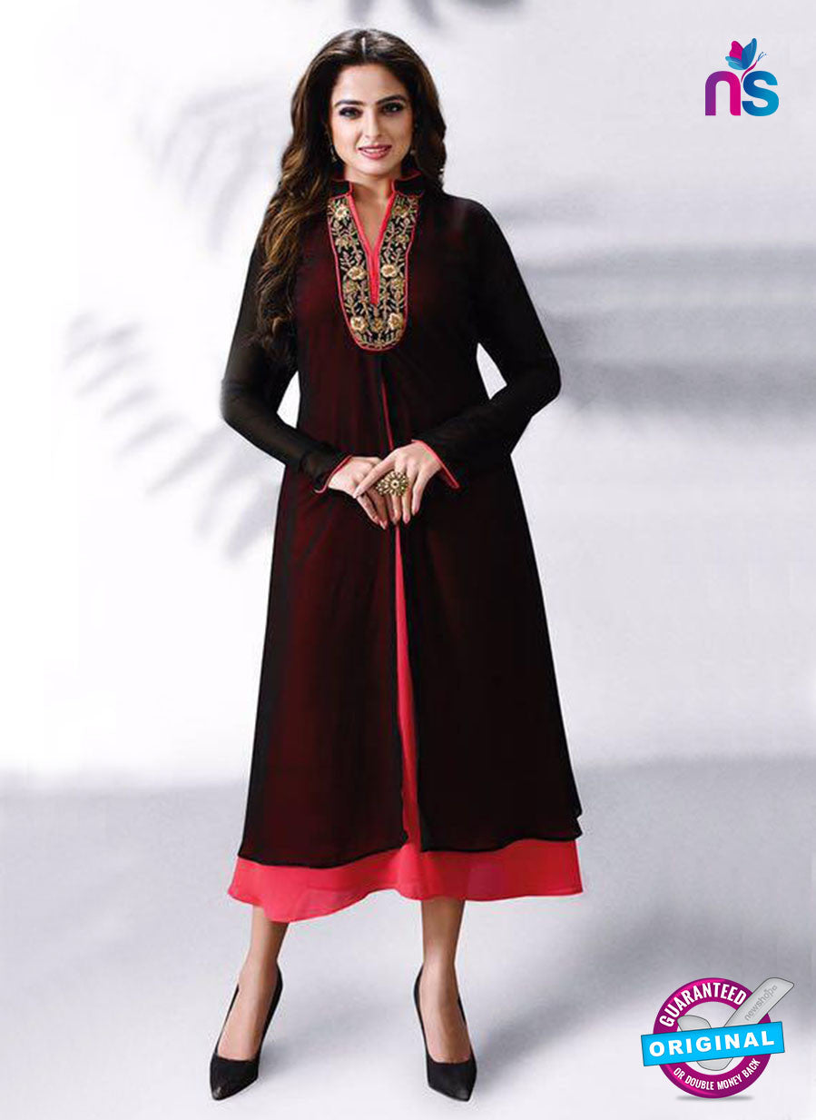 LT 508 Black and Red Exclusive Party Wear Georgette Tunic