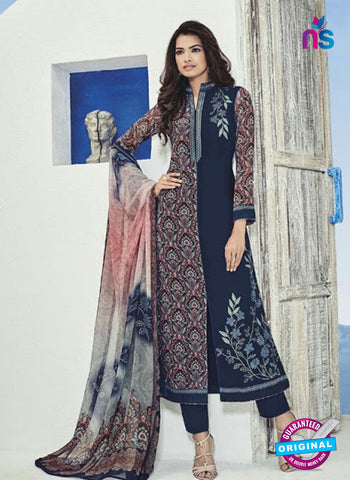 Bela 508 Blue Georgette Party Wear Suit