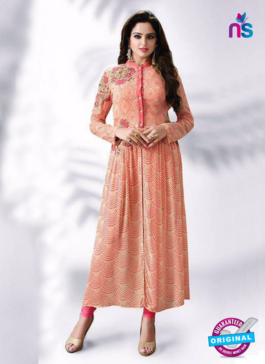 LT 509 Peach Exclusive Party Wear Georgette Tunic