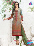 AZ 3340 Multicolor and Green Printed Cotton Satin Pakistani suit