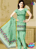NS10767 Pale Green Karachi Cotton Designer suit