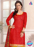 NS12285 Red and Yellow Chudidar Suit