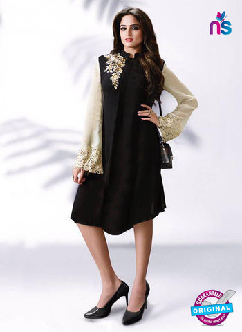 LT 510 Black Exclusive Party Wear Georgette Tunic