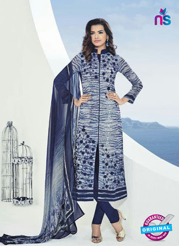 Bela 510 Blue Georgette Party Wear Suit