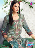 AZ 3342 Green Printed Cotton Satin Pakistani suit