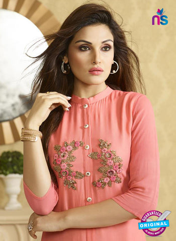 LT 511 Peach Exclusive Party Wear Georgette Tunic Online