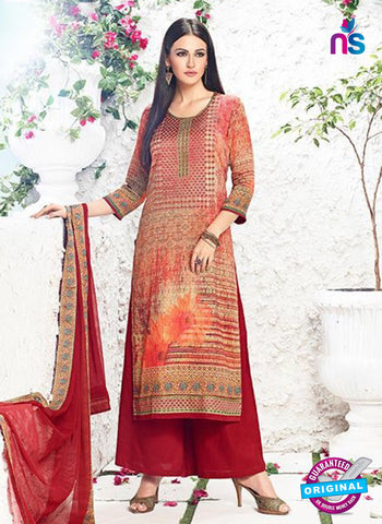 AZ 3343 Multicolor and Maroon Printed Cotton Satin Pakistani suit