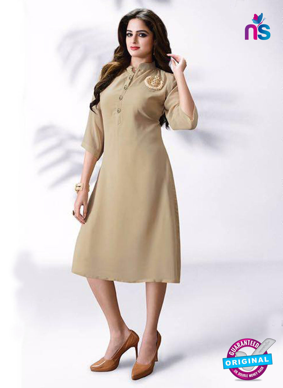 LT 512 Beige Exclusive Party Wear Georgette Tunic