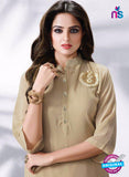 LT 512 Beige Exclusive Party Wear Georgette Tunic Online