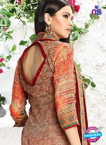AZ 3343 Multicolor and Maroon Printed Cotton Satin Pakistani suit - Salwar Suits - NEW SHOP