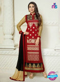 NS10509 Red and Beige Straight Suit