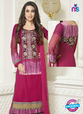 NS10510 Pink Straight Suit