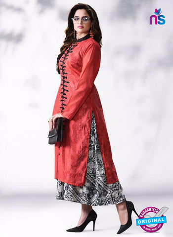 LT 513 Red Exclusive Party Wear Georgette Kurti